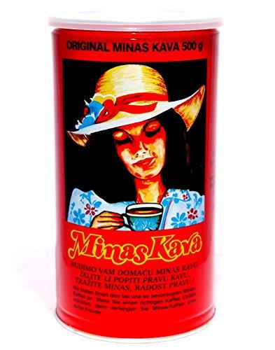 Minas Kava 500g Kaffee puderfein gemahlen - 2er Pack