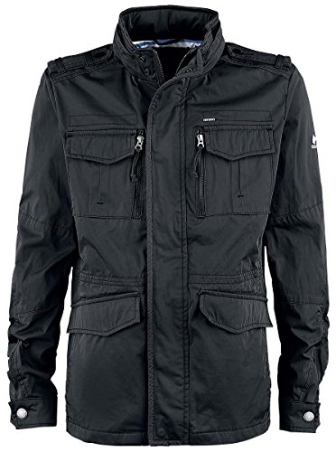 khujo Herren Shinzo Rubber Coating Jacket Jacke, Schwarz (Black 200), Small (Herstellergröße:S)