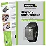 dipos I 2X Schutzfolie matt kompatibel mit Sony Smartwatch 2 Folie Bildschirmschutzfolie