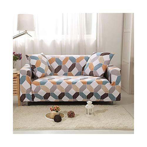 OYZK Cubierta de sofá de Estiramiento, sofá elásticos Cubiertas para Sala de Estar, Sofá Muebles Protector Fundas Sofás con Chaise Longue 1pc (Color : Color 14, Specification : 2 Seater 145 185cm)