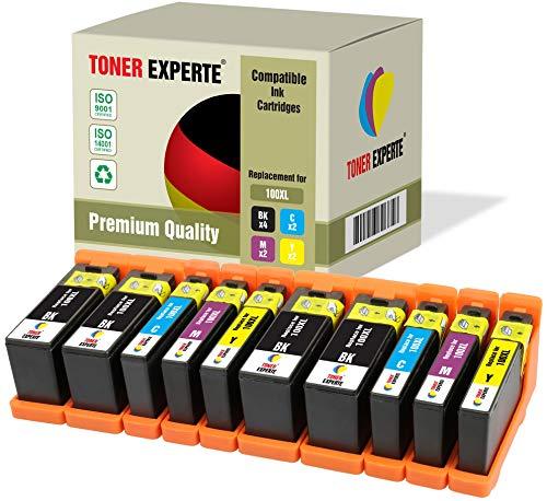 10 XL TONER EXPERTE® 100XL 100 XL Druckerpatronen kompatibel für Lexmark S300 S305 S402 S405 S505 S602 S605 S608 S815 S816 Pro 202 205 208 209 705 805 901 905 (4 Schwarz, 2 Cyan, 2 Magenta, 2 Gelb)