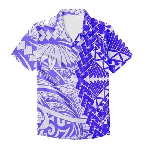 Conjunto de Dos Piezas de Estilo Tribal polinesio, Ropa de Pareja, Camisa para Hombre, más Vestido Largo de Fiesta para Mujer