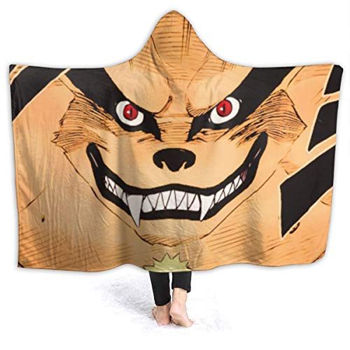 JooKrrix Spring Luxury Poncho Cloak Cape, Anime Naruto's Sage Mode Sabio Fanart Hooded Blankets, Anti-Dirty Quality Family Wearable Blankets for Music Festival, Dorm Room, Airplane