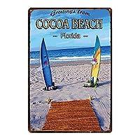 ココアビーチ 金属板ブリキ看板警告サイン注意サイン表示パネル情報サイン金属安全サイン