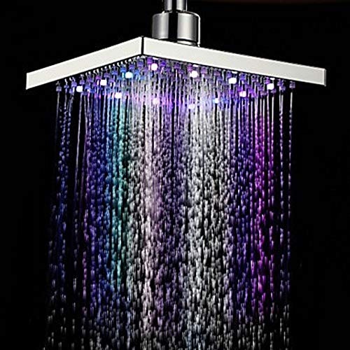 MNDTR Duschkopf Moderne Led Farbwechsel Wasser Leuchten Quadratische Form Regen Badezimmer Duschkopf...