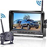 LeeKooLuu HD 960P Digital Wireless Backup Camera with 7''Monitor Highway...