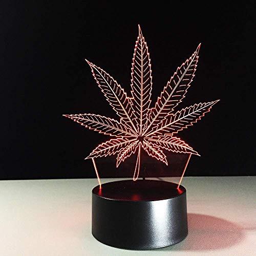 Casa LED-tafellamp met gekleurd LED-licht, 3D-illusie USB Night Light slaapkamer, voor kinderen