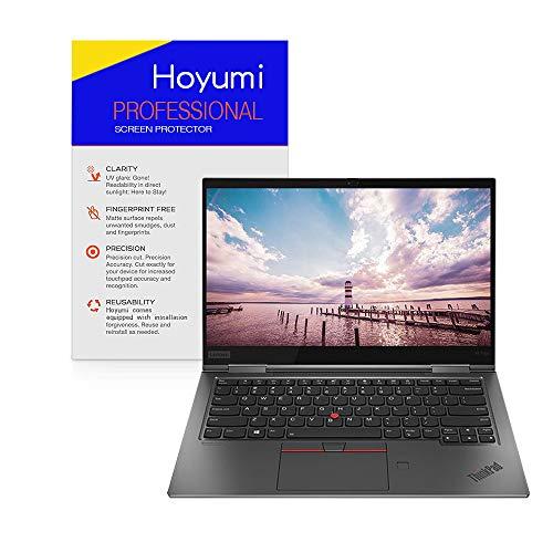 Hoyumi Screen Protector for Thinkpad X1 Yoga Gen3 2018 14 Inch Touch Screen Laptop Anti Glare Full Screen Precise Cut 2Pcs (14 Inch, Matte Screen Protector)