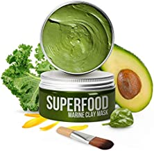 100% VEGAN Dead Sea Mud Mask with Avocado & Superfoods - Healing Clay for FACE and BODY - Blackhead Remover - Cleanse and Detoxify the Skin – Hydrating Clay Mask for Face - Natural Face Masks for Acne