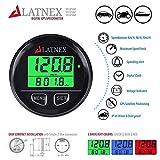 LATNEX GPS Speedometer Odometer Waterproof with Green/Red/Blue Digital Display Backlight. Universal Suitable ATV-UTV-Marine-Boats-Motorcycle-Automobile-Motor Vehicles-Bikes-Golf Carts (Black)