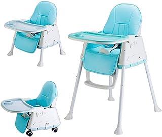 【DEARGENA】赤ちゃん用 ベビーチェア ハイチェア 赤ちゃん用 多機能 子供 お食事椅子 折りたたみ 専用クッション付き 高さ調節可能椅子置き 組立 脱出防止(日本の倉庫配達、3日間の到着)