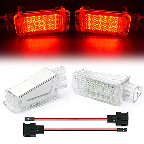 TFWYYJ LED Light por Puertas LUZ Equipaje COMPARTAMENTO Glove LÁMPARAS para Audi A6 S6 C5 Q5 Q7 4L TT A1 A2 A3 S3 A4 S4 B5 B6 B7 A5 RS6 A8 (Emitting Color : Passion Red)