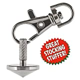 Edc Keychain Spinning Top + Snaphook For Easy Carry. Spins Forever (up to 6:24 Min). For Adults, Teens & Kids, Unique Gift for Men or Women. Precision Machined. Metal Spin Top Fidget Desk Top Under 15