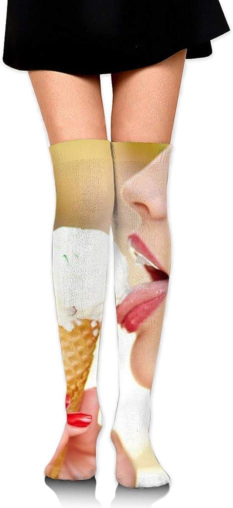 Hdadwy Hdadwy Männer Frauen Knie hohe Socken lecken