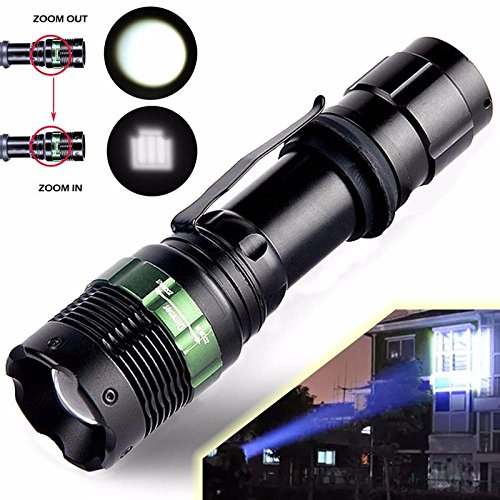 LED Linternas, Oyedens 2000 Lumen Zoomable Del Cree Xml T6 Led 18650 Focus...