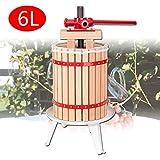 VINGO Obstpresse 6L Fruchtpresse Weinpresse Saftpresse Maischepresse Obstmühle