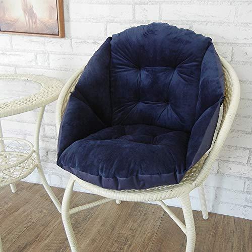 Zitkussen Comfortabele Fauteuil Booster Kussen Flexibel Bankkussen Rugsteunkussen Tuin Lounge Chair Family Seat,Dark blue,40 * 47cm