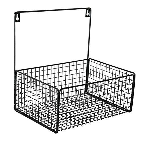 LQ-Wall Shelf Wandrek, wandrek voor wandrekken voor wanden, vrije punch, badkamer, badkamer, magazijnrek, van smeedijzeren mand hangen