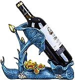 SDKFJ Botelleros Sostenedor de Vino de Mesa, Estante de Vino de la encimera, decoración del hogar del Estante de la Creatividad del Estilo Europeo Simple Moderno 0814