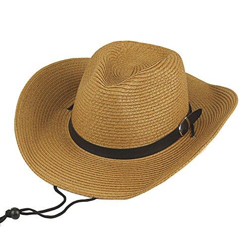 Hombres Sombrero de paja Verano Sombrero de playa Sombrero de vaquero