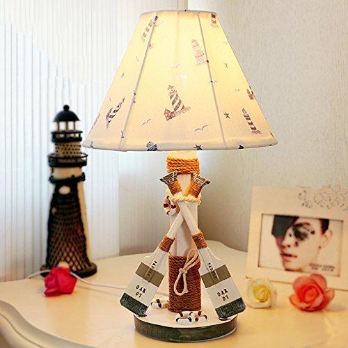 Bonne chose lampe de table Enfants Table Lamp Bedroom Table de chevet Mediterranean Creative Night Light Cadeau d'anniversaire Lampe de table décorative