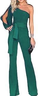 maweisong 女性の夏のワイドレッグワンショルダーベルト付きショートパンツズボン
