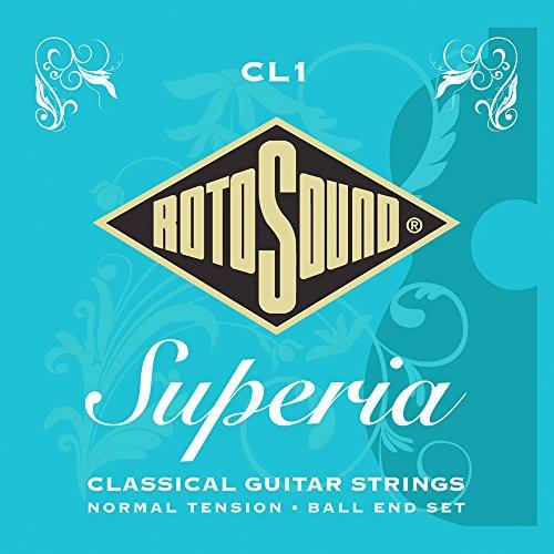 Rotosound CL1 - Juego de cuerdas para guitarra clásica, material de nailon con entorchado de plata, extremo de bola