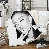 Amacigana Ariana Grande Decke Flanell Isolierdecke, Flauschige Decke, Ariana Grande superweiche Samt Isolierdecke, für die Schule (1,150cm x 200cm)