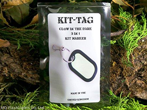 Kit-tag brillent dans le noir 3 en 1 Kit Photoluminescent marqueur Porte-clés