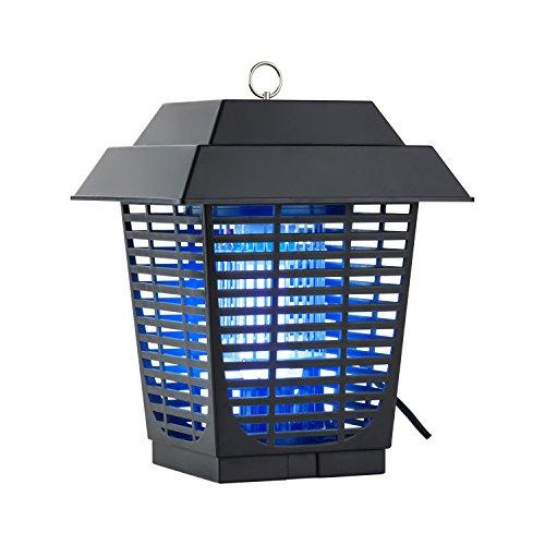 DURAMAXX Ex Lantern Zanzariera Elettrica Luce Ammazza Zanzare (Basso condumo 20 Watt, Illuminazione UV attrattiva blu, fondo di raccolta estraibile)