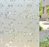 Película de decoración de Vidrio de Puerta y Ventana de Electricidad estática Anti-Ultravioleta Helada película de decoración del hogar de partición de Adhesivo de plástico Puro A 50x200cm