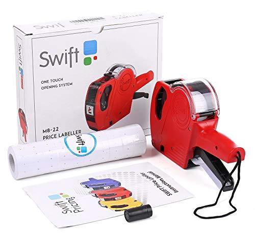 Swift 22 x 12 etiquetadora con 7000 Etiquetas y Tinta de Repuesto minorista