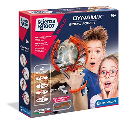 Clementoni 19169 Science & Play-Dynamix-Bionic Power-Made in Italy-Flexible Construction-Scientific Game (Italian Version), 8 Years+