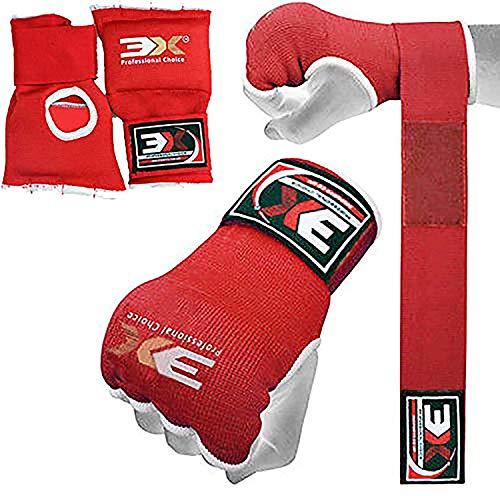 Guantes MMA para entrenamiento de artes marciales y agarre Krav Maga palma abierta Maya Ocultar correa de piel para la muñeca
