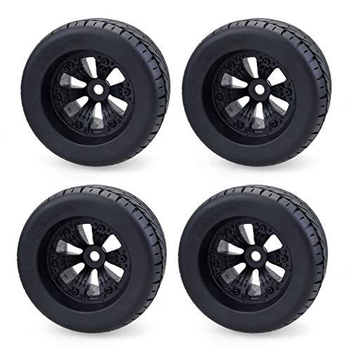 002fr 4 Stück 1/8 Monster Truck Räder & Reifensatz Reifen Für HPI T-MAXX 3.8 Savage REVO Schwarze Straßenreifen