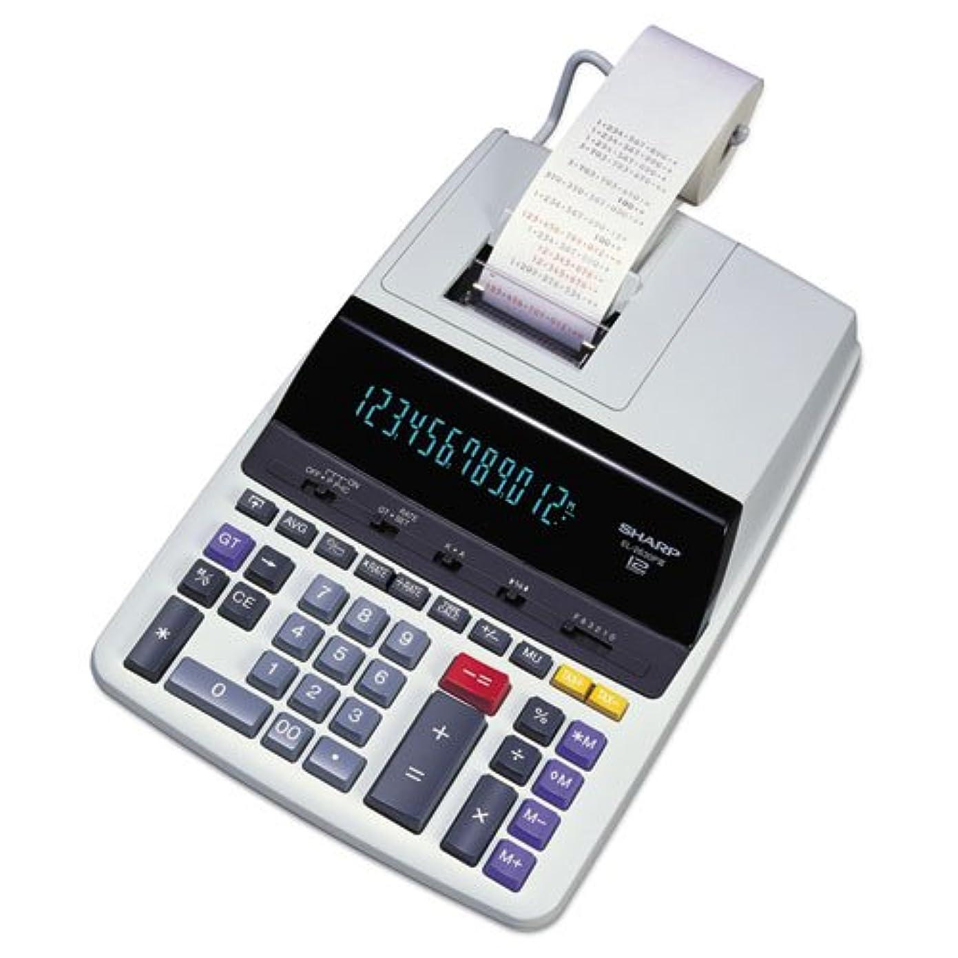 見かけ上接触記憶に残る12桁電卓、2色印刷、8?–?1?/ 2?quot ; x10?–?1?/ 2?quot ; x2?–?3?/ 4?quot ;