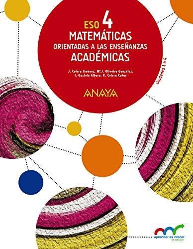 Matemáticas orientadas a las Enseñanzas Académicas 4. (Trimestres) (Aprender es crecer...