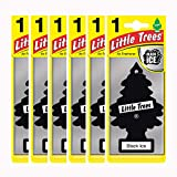 Air Freshener - LITTLE TREES Tree - Black Ice Fragrance MTZ04 -