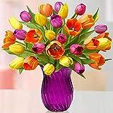 Kit de Pintura de Diamantes para niños, Punto de Cruz Diamante 5d Flores Tulip Adultos Bordado Kit de Punto de Cruz Pintura numeros decoración de Pared Pegatinas hogar decoración 30 x 30 cm
