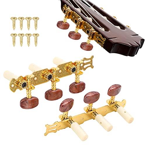 Gitarren-Stimmwirbel, Achatfarbe Leichte A3-Stahlplatten-Mechaniken Stimmwirbel für Konzertgitarre