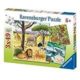 Ravensburger 09387Tiere der Erde (3x 49Pieces