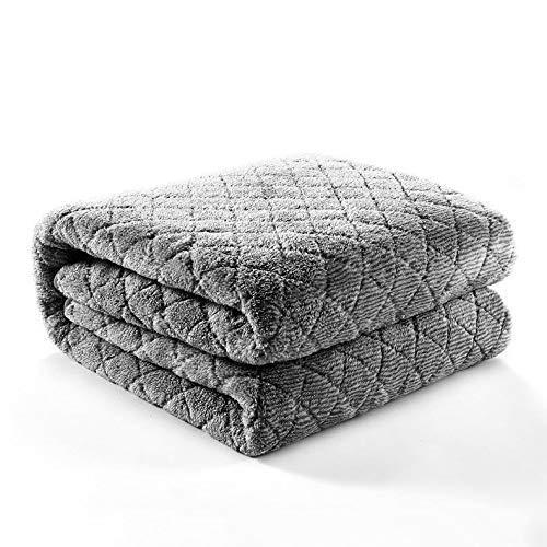 Blanket Double Bed Electric Blanket Bedspread King Size Dark Grey Extra Large Bed Fleece Blankets Super Soft Fluffy Warm Microfiber Solid Blanket SKYJIE (Size : 180 * 150cm)