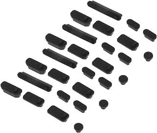 Homyl Tapón de Cubierta de Enchufe a Prueba Polvo de Puerto Audio USB de 4Pack para PC Negro