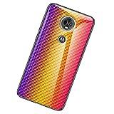 UKDANDANWEI Moto E5 Plus Coque,Etui de Téléphone en Fibre de Carbone et Verre Trempé Transparent...