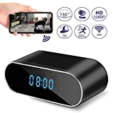 Hidden Camera Clock, WiFi Spy Camera Wireless Hidden, 1080P Nanny Cameras and Hidden Cameras with Night Vision and Motion Detective, Perfect 150 Angle Camera Clock for Home Security New APP
