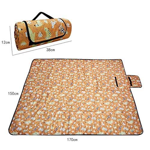 AJZGF Couverture de pique-nique pliante Tapis de pique-nique tapis résistant à l'humidité tapis extérieur tapis d'herbe camping imperméable tapis de pelouse épais tapis rampant Tapis de voyage impermé