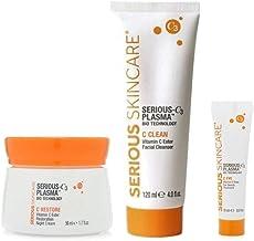 Serious Skincare Serious C3 Plasma Night Trio C-Restore Vitamin C Ester Night Cream, C Eye Vitamin C Ester ...