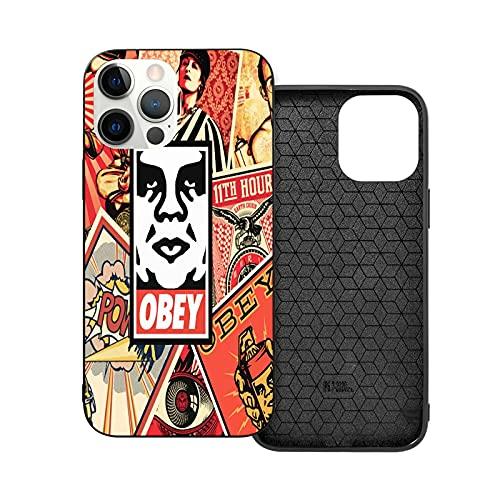 Compatibile con iPhone 12/11 PRO Max 12 Mini SE X/XS Max XR 8 7 6 6s Plus Custodie Obey-Propaganda Nero Custodie per Telefoni Cover