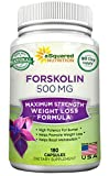 Forskolin 500mg Max Strength - 180 Capsules, Forskolin Extract Supplement for 100% Pure Weight Loss Fuel, Coleus Forskohlii Root 20% Forskolin Diet Pills, Belly Buster Fat Burner 2X Slim Trim Lose