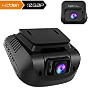 Crosstour Dashcam 1080P Double Lens FHD Avant et Arrière Caméra Voiture avec GPS Externe HDR Vision Nocturne 170°Grand Angle Caméra Embarquée Détection de Mouvement et Enregistrement en Boucle